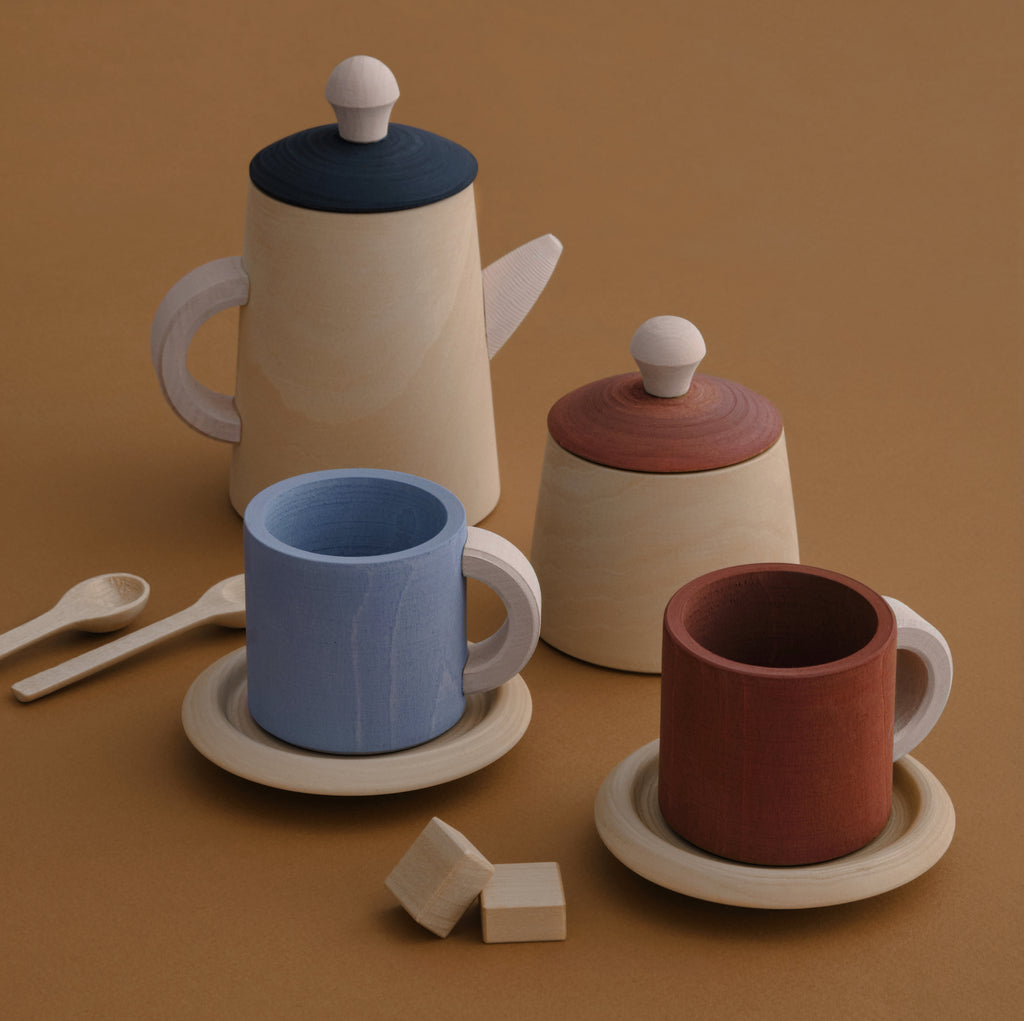 Wooden Tea Set - Terra Blue