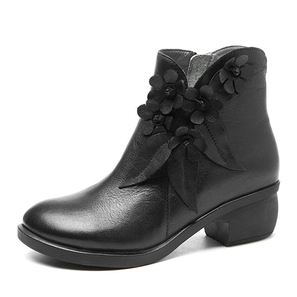Ya Socofy Handmade Leather Dress Boots Vintage Style With A