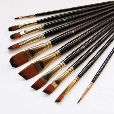 Art Supplies - 5Pcs Paint Brush Set - High Quality Nylon Hair for Watercolor, Acrylic, Oil Paint