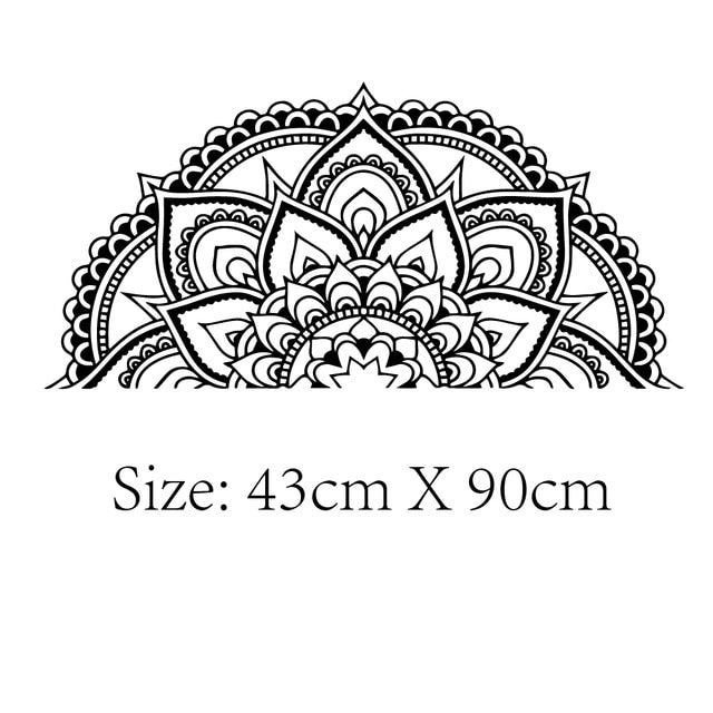 Wall Stickers - Half Mandala