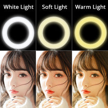 "LED Ring Light - 10""/6"" Selfie Lamp with Camera Phone Clamp and Tripod - SZKOSTON [FREE SHIPPING]"