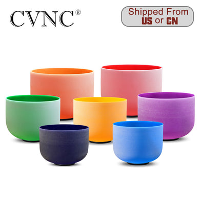 Colored Frosted Quartz Crystal Singing Bowl - 8