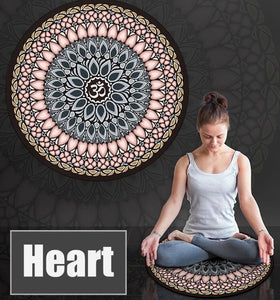 Meditation Mat - Round Rubber Pad with Ohm in Center [FREE SHIPPING]