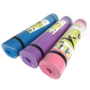 Yoga Mats - Foam Exercise Pads - 4mm Thick