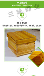 Beekeeping Tools - Bee Hive with 10 Wooden Frames