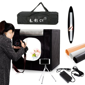 Photography Lighting Tent Kit - Portable, 60x60cm - CY