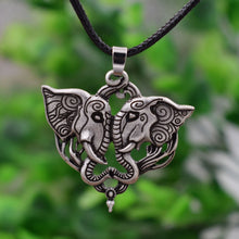 12 Pendant Necklaces - Elephants in Love - SAN LAN