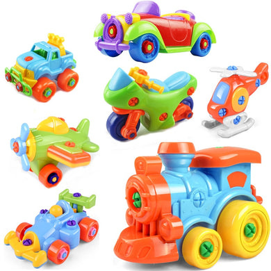 Early Learning Toys - Plastic 3D Puzzles - Vehicle and Animal Shapes - VACOM