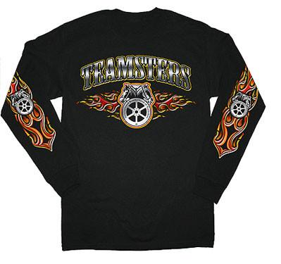Teamster Long Sleeve Flames T-Shirt