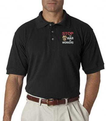 Stop War on Workers Polo