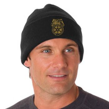 Embroidered Knit Hat