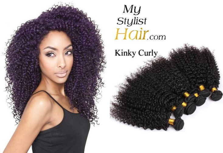 Kinky Curly Weave Peruvian Remy Human Hair Sew In Extensions