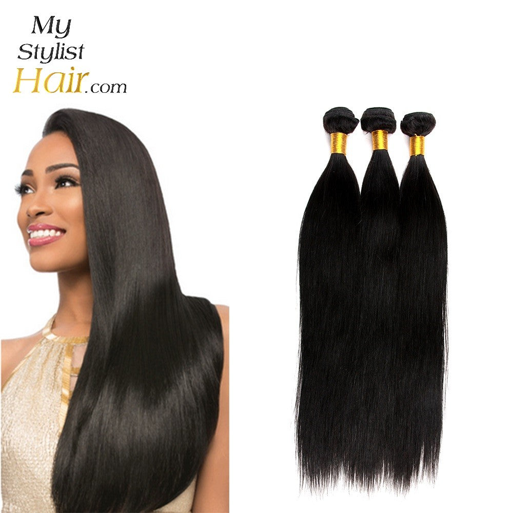 Straight Weave Peruvian Remy Human Hair Extensions Mystylisthair