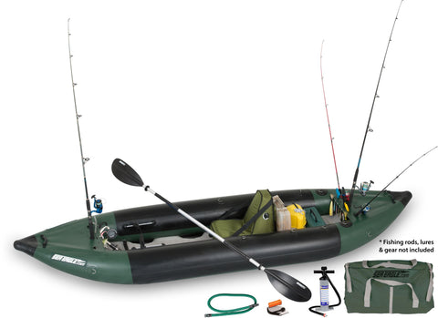 Sea Eagle 350 Fishing Explorer Deluxe Solo Kayak Package - Goodland Outdoors