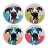 "Goodland Outdoors ""Bowie"" Premium Absorbent Stone Drink Coasters - Set of 4 - Goodland Outdoors"