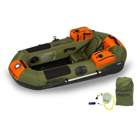 Sea Eagle PackFish7 Deluxe Inflatable Fishing Boat Package - Goodland Outdoors