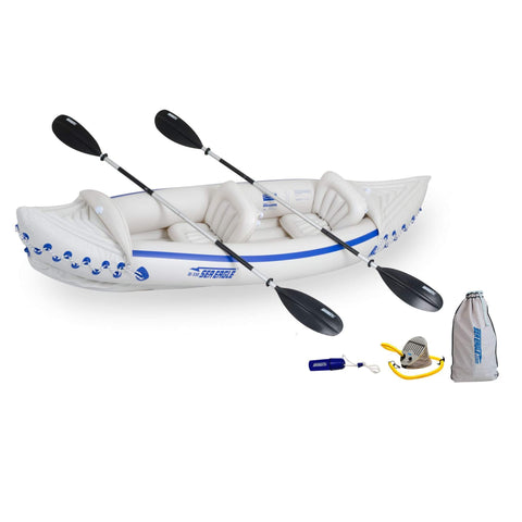 Sea Eagle SE 330 Deluxe 2-Person Inflatable Kayak Package - Goodland Outdoors