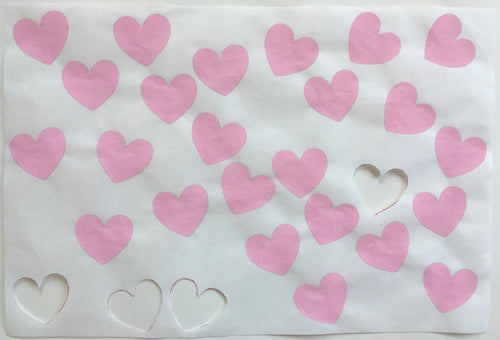 24 Pink Hearts, Cut Outs