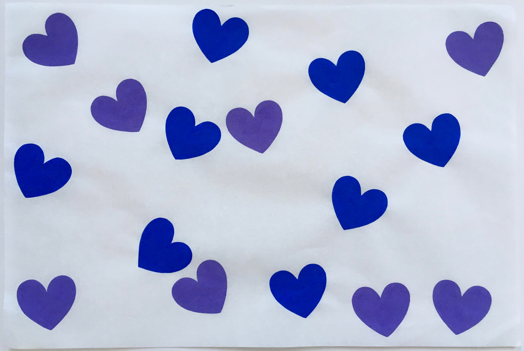 8 Hearts With Cobalt