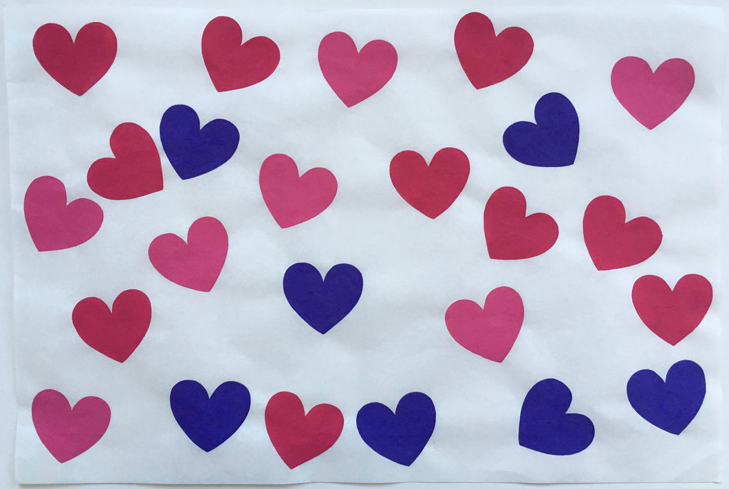 24 Hearts Pinks and Purple