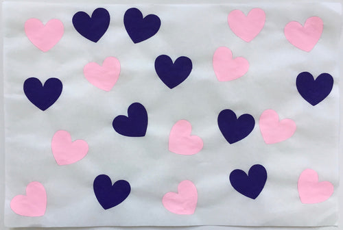20 Hearts, Pink and Purple