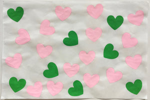 24 Hearts, Pink and Green