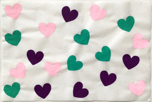 19 Hearts, Pink, Green, Purple
