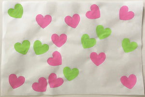 18 Hearts, Pink and Green