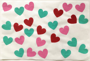26 Hearts, Pink, Green and Rose