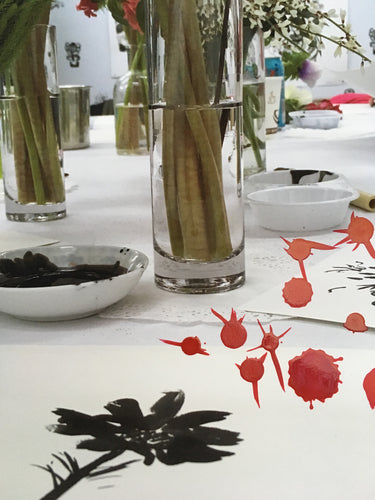India Ink Flowers