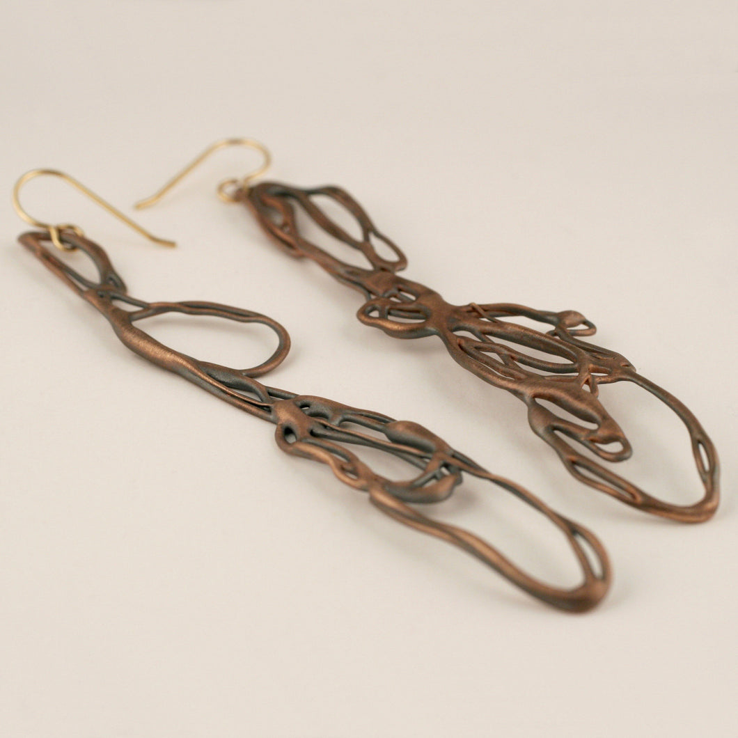Oxidized Pinks Earrings