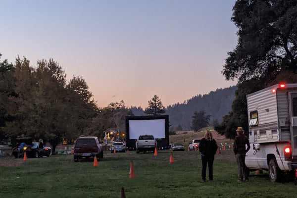 Roaring Camp Railroad Drive-In Popup Movie Theaters