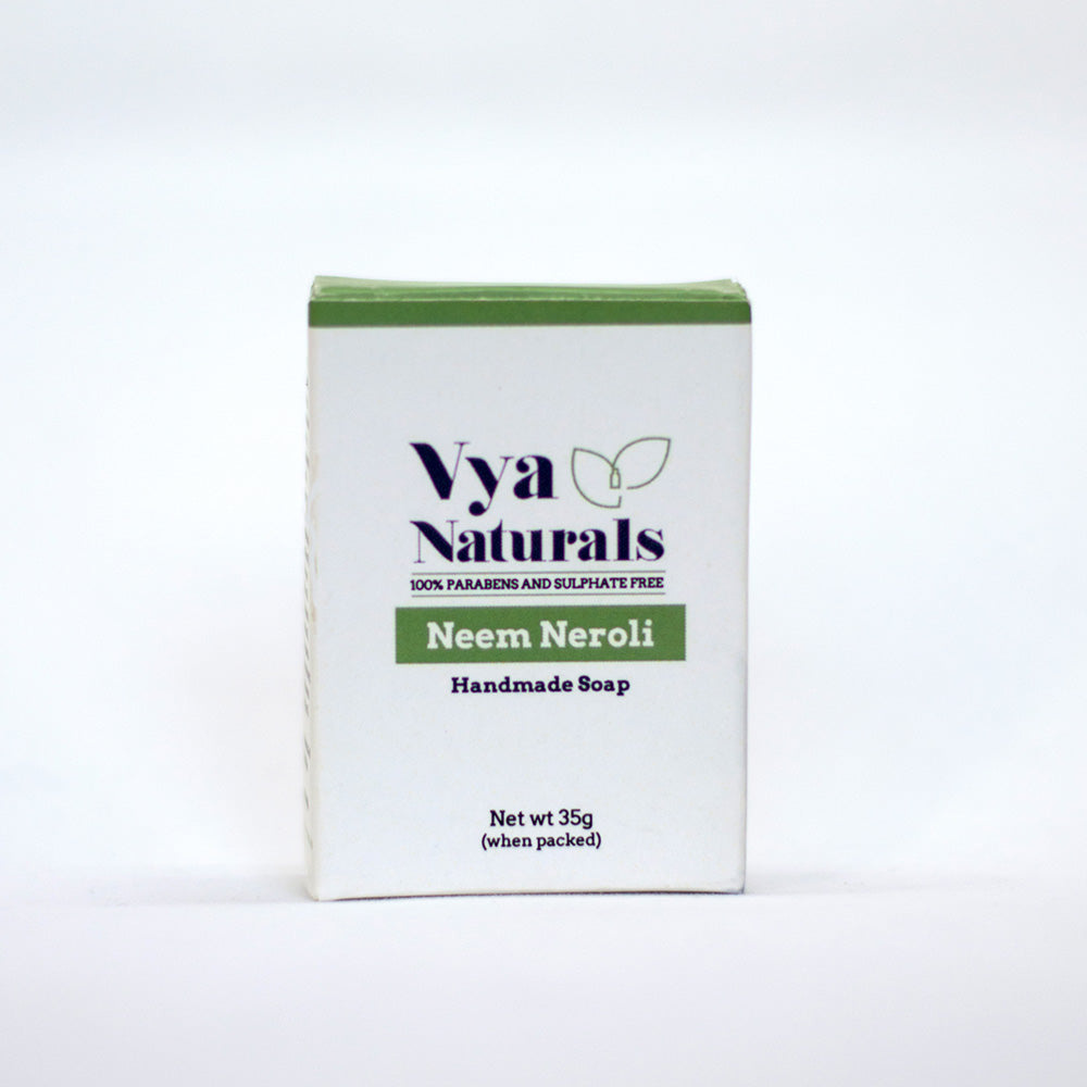 Neem and Neroli Handmade Soap (35g) - Vya Naturals