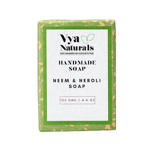 Neem and Neroli Handmade Soap (125g) - Vya Naturals