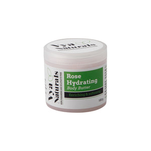 Rose Hydrating Nourishing & Moisturizing Natural Body Butter- Hydrating Whipped Body Soufflé-100gm - Vya Naturals