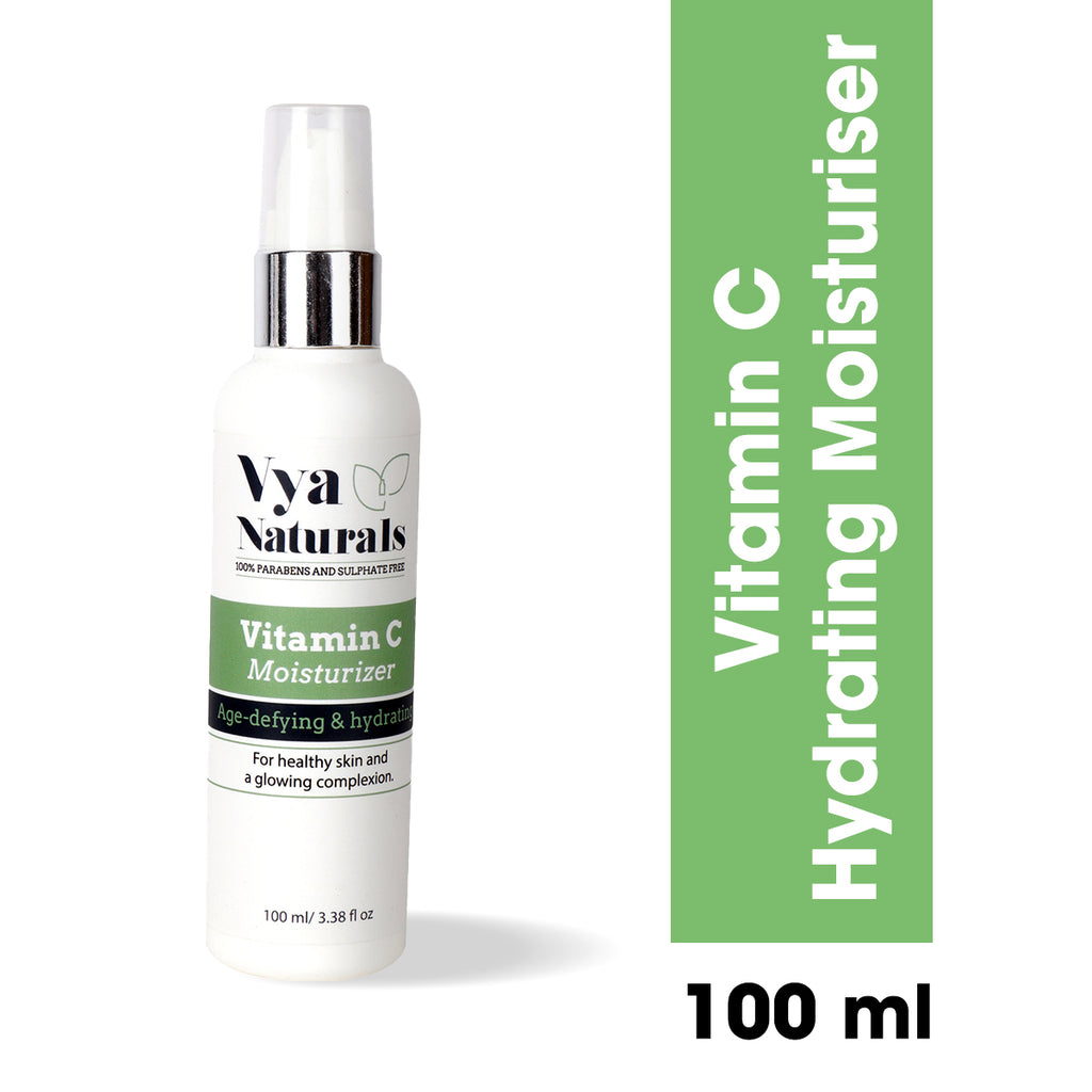 Vitamin C Moisturiser with Vitamin E - Brightening Anti Aging Formula 100ml - Vya Naturals