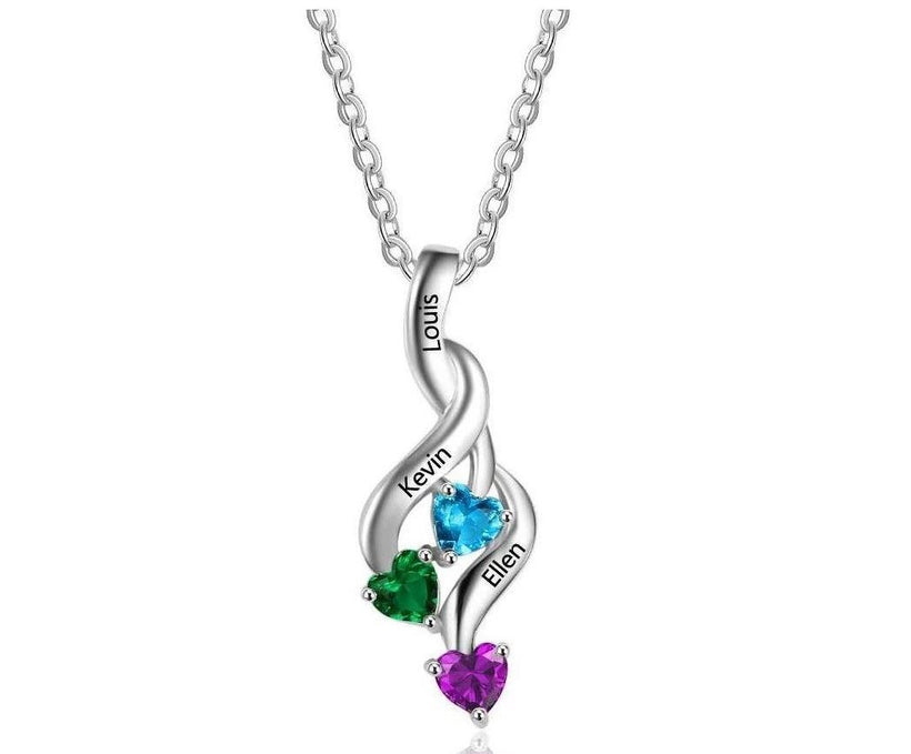 Mother's necklaces 3-4 birthstones