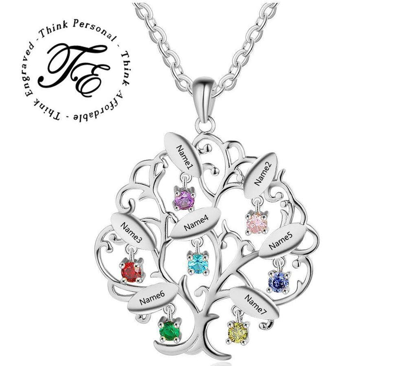 Mother's Necklaces 7 - 8 Birthstones