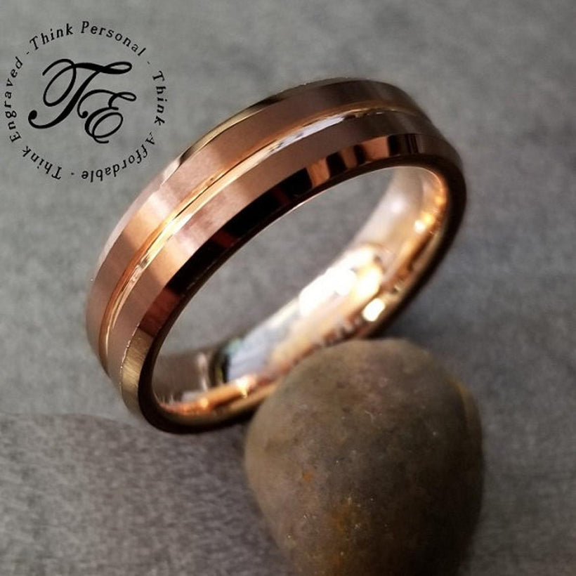 Engraved Men's Wedding Band and Men's Promise Rings