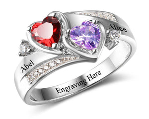 Sterling Silver Engraved Promise Rings For Her