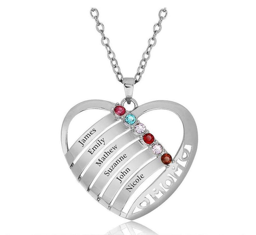 Mother's Necklaces 5 - 6 Birthstones
