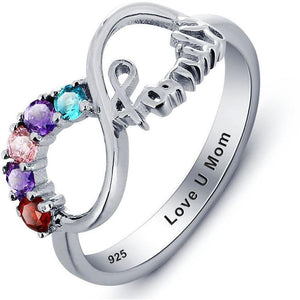 Family mother ring 5 birthstone