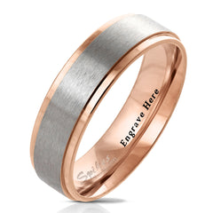 rose gold promise ring for men