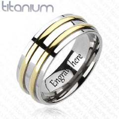 titanium wedding band engraved