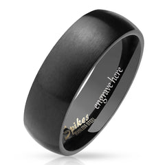 black personalized wedding band for men