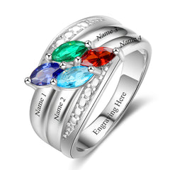 4 stone mothers ring