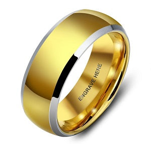 gold mens wedding band