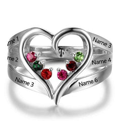 heart mothers ring