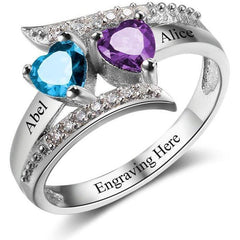 personalized mothers ring or promise ring