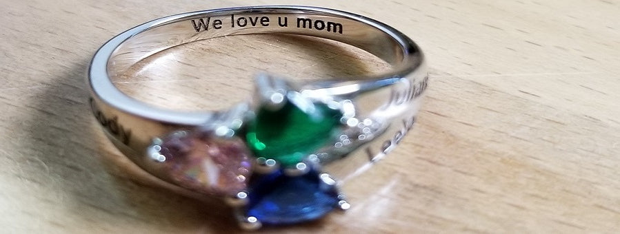 we love you mom mothers ring